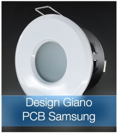 Faretto completo Bianco con PCB SAMSUNG 9W - Design GIANO - Dimmerabile - Made In Italy