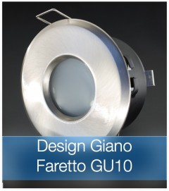 Corpo Faretto Satinato con Faretto LED GU10 5W - Design GIANO