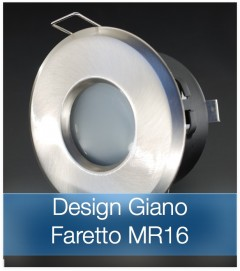Corpo Faretto Satinato con Faretto MR16 7.5W - Design GIANO