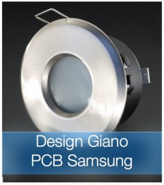 Faretto completo Satinato con PCB SAMSUNG 9W - Design GIANO - Dimmerabile - Made In Italy