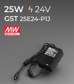 Alimentatore switching da tavolo a uscita singola 25W Meanwell - GST25E24-P1J 24V
