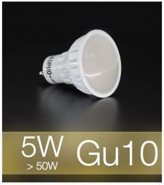 Faretto LED  GU10 5W - Bianco CALDO