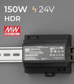 Alimentatore Meanwell HDR-150-24 - 150W - Barra DIN