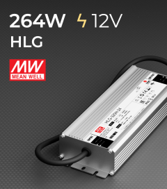 Alimentatore Meanwell HLG-320H-12 12V 264W  Resistente all'acqua - Versione Standard, A e B