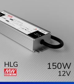 Alimentatore Meanwell HLG-150H-12 12V 150W Resistente all'acqua - Versione Standard, A, B