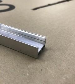 """SUPER OFFERTA Profilo Piatto Design """"Classic"""" in Alluminio GREZZO da 1 Metro - NO COPERTURA"""