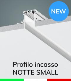 """Profilo in Alluminio da Incasso nel cartongesso """"Notte Small"""" - Ossidato Argento"""