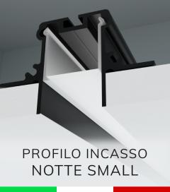 """Profilo in Alluminio da Incasso nel cartongesso """"Notte Small"""" - Ossidato Nero"""