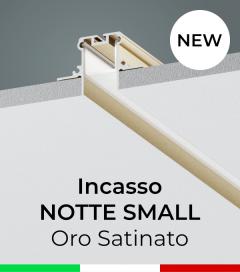 """Profilo in Alluminio da Incasso nel cartongesso """"Notte Small"""" - Oro Satinato"""