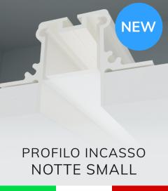 """Profilo in Alluminio da Incasso nel cartongesso """"Notte Small"""" - Verniciato Bianco"""