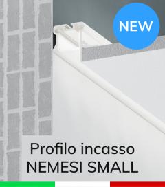 """Profilo in Alluminio da Incasso nel cartongesso """"Nemesi Small"""" - Verniciato Bianco"""