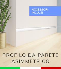 Profilo in Alluminio Da Parete con Riflettore per Strisce LED - Ossidato ARGENTO - TAPPI E KIT DI MONTAGGIO COMPRESI!