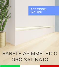 Profilo in Alluminio Da Parete con Riflettore per Strisce LED -  Oro Satinato - TAPPI E KIT DI MONTAGGIO COMPRESI!