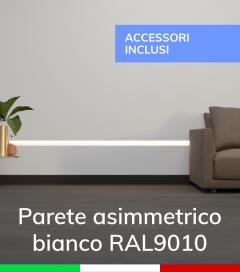 Profilo in Alluminio Da Parete con Riflettore per Strisce LED - Verniciato BIANCO RAL9010 - SISTEMA DI AGGANCIO COMPRESO NEL PREZZO!
