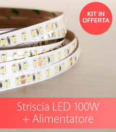 Kit Striscia LED ECO 2835 120led/m 100W + Alimentatore