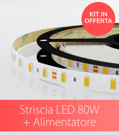 Kit Striscia LED ECO 5630 80W + Alimentatore