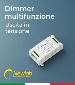 Dimmer Newlab L400MA - Pulsante, 0-10V, 1-10V, Potenziometro, DALI