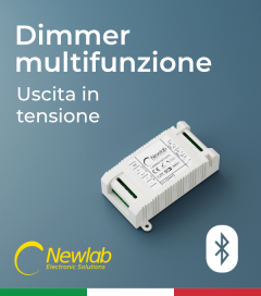 Dimmer Newlab L400 Bluetooth - Multifunzione (Push Button, 0-10V/1-10V, Potenziometro, DALI e BLE)