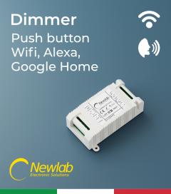 Dimmer Newlab L458MC - (Push Button, WiFi) - Compatibile con Alexa e Google Home