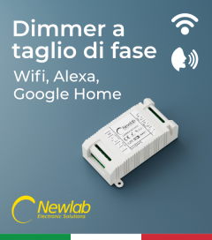 ON/OFF Newlab L526MA - ON/OFF a taglio di fase WiFi - Compatibile con Alexa e Google Home