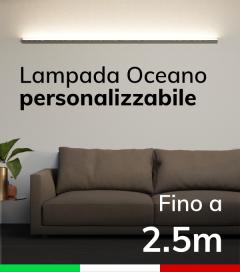 Lampada LED da parete Oceano - Da 200cm a 250cm - Personalizzabile - Dimmerabile