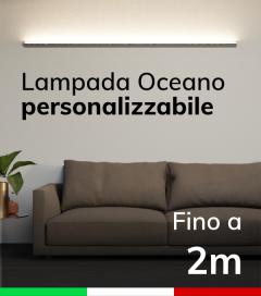 Lampada LED da parete Oceano - Da 150cm a 200cm - Personalizzabile - Dimmerabile
