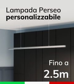 Lampada LED da Sospensione Perseo - Da 200cm a 250cm - Personalizzabile - Dimmerabile