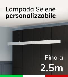 Lampada LED da Sospensione Selene - Doppia Emissione di Luce - Da 200cm a 250cm - Personalizzabile - Dimmerabile