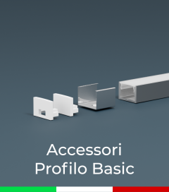 Accessori per Profili in Alluminio Piatto modello Basic