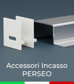 """Accessori per Profilo in Alluminio da Incasso """"Perseo"""" 37x37mm"""