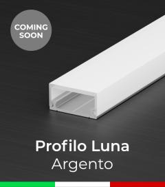"""Profilo in Alluminio Flessibile """"Luna"""" per Strisce LED - Anodizzato Argento"""