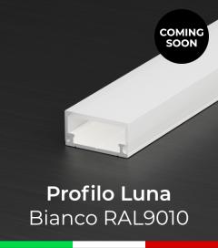 """Profilo in Alluminio Flessibile """"Luna"""" per Strisce LED - Verniciato Bianco"""