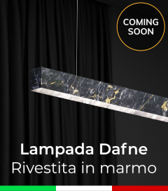 Lampada LED da Sospensione in Marmo - Personalizzabile- Dimmerabile