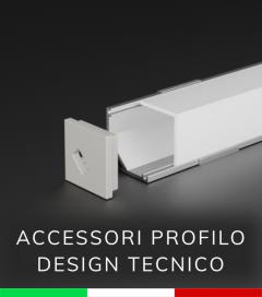 Accessori per Profilo Angolare in Alluminio Design Tecnico
