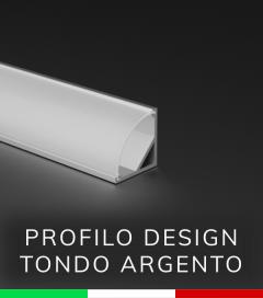 SUPER OFFERTA Profilo Angolare Design Tondo in Alluminio da 1 Metro Copertura Opale
