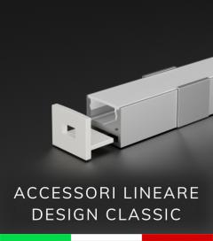 Accessori per Profili in Alluminio Piatto modello Classic