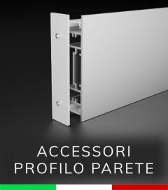 """Accessori per Profilo in Alluminio da Parete """"Flat"""" - Canalina, Biadesivo, Tappi e Accoppiatori"""