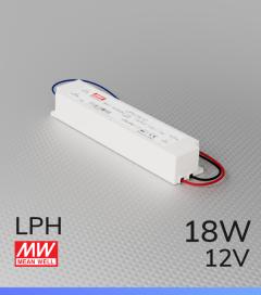 Alimentatore Meanwell LPH-18-12  - 12V - 18W