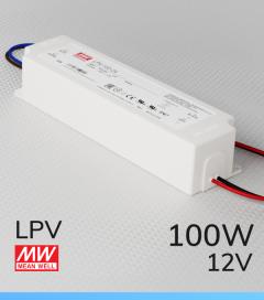 Alimentatore Meanwell LPV-100-12 12V 100W  Resistente all'acqua