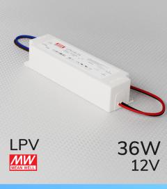 Alimentatore Meanwell LPV-35-12 12V 35W  Resistente all'acqua