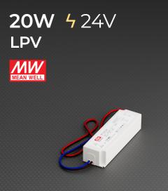 Alimentatore Meanwell LPV-20-24 24V 20W  Resistente all'acqua