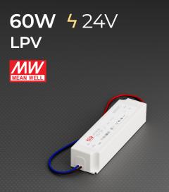 Alimentatore Meanwell LPV-60-24 24V 60W  Resistente all'acqua
