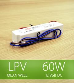 Alimentatore Meanwell LPV-60-12 12V 60W  Resistente all'acqua