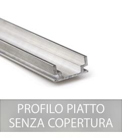 Profilo Piatto in Alluminio per strisce LED - Senza Copertura - 2 Metri