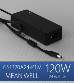 Alimentatore switching da tavolo a uscita singola 120W Meanwell - GST120A-24-P1M - 24V