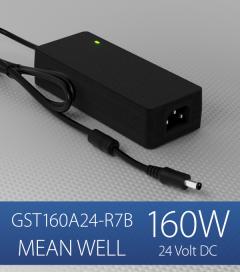 Alimentatore switching da tavolo a uscita singola 160W Meanwell - GST160A-24-R7B - 24V