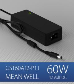 Alimentatore switching da tavolo a uscita singola 60W Meanwell - GST60A-12-P1J - 12V