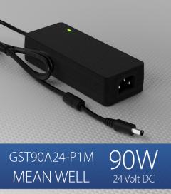 Alimentatore switching da tavolo a uscita singola 90W Meanwell - GST90A-24-P1M - 24V