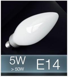 Lampadina LED E14 4W(50W) Vetro MILK - Bianco FREDDO