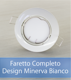 Faretto completo Bianco con PCB SAMSUNG 9W - Design MINERVA - Dimmerabile - Made In Italy